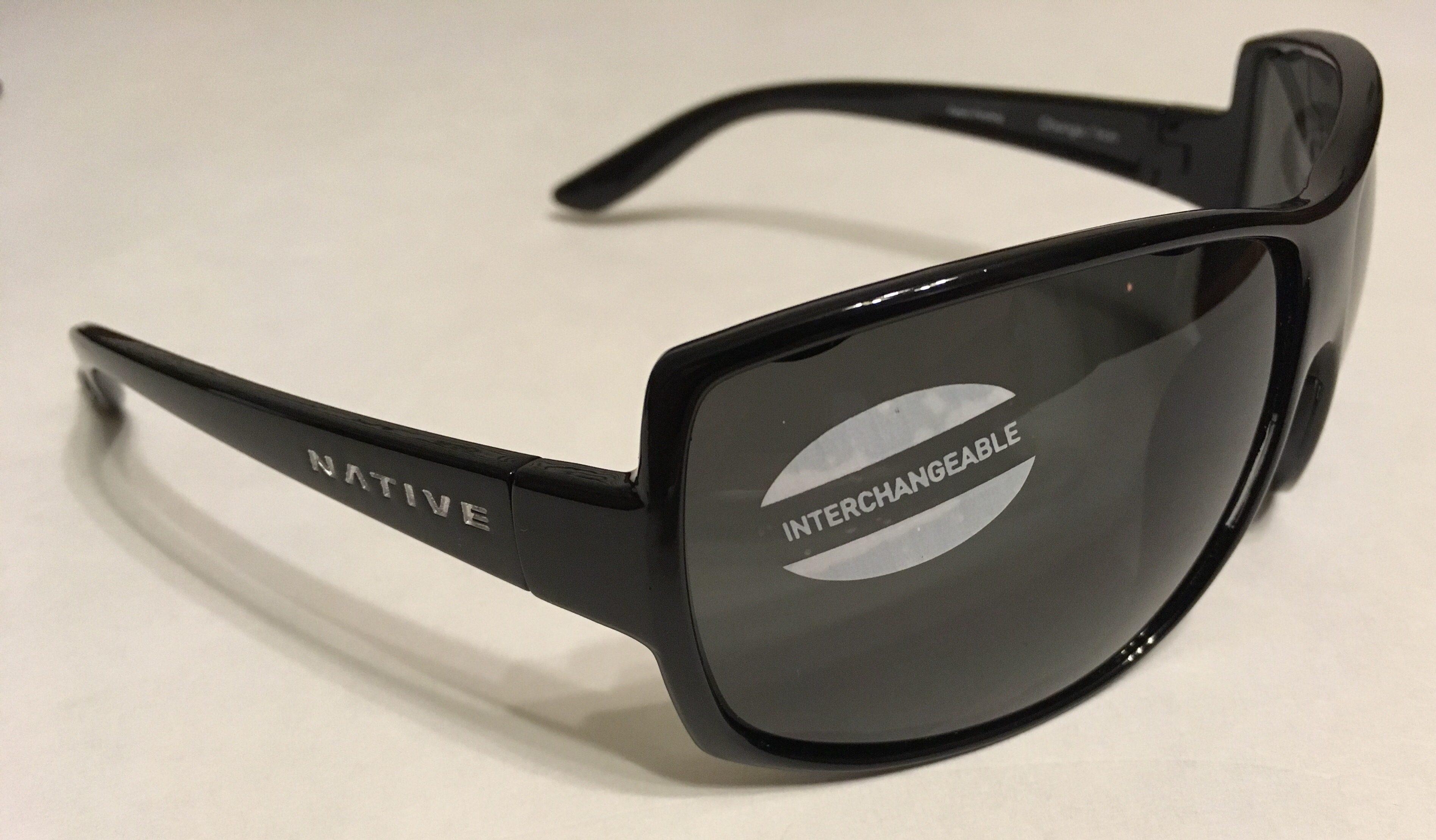 Native Eyewear Chonga Sunglasses - Iron Black Frame - POLARIZED Gray Lens