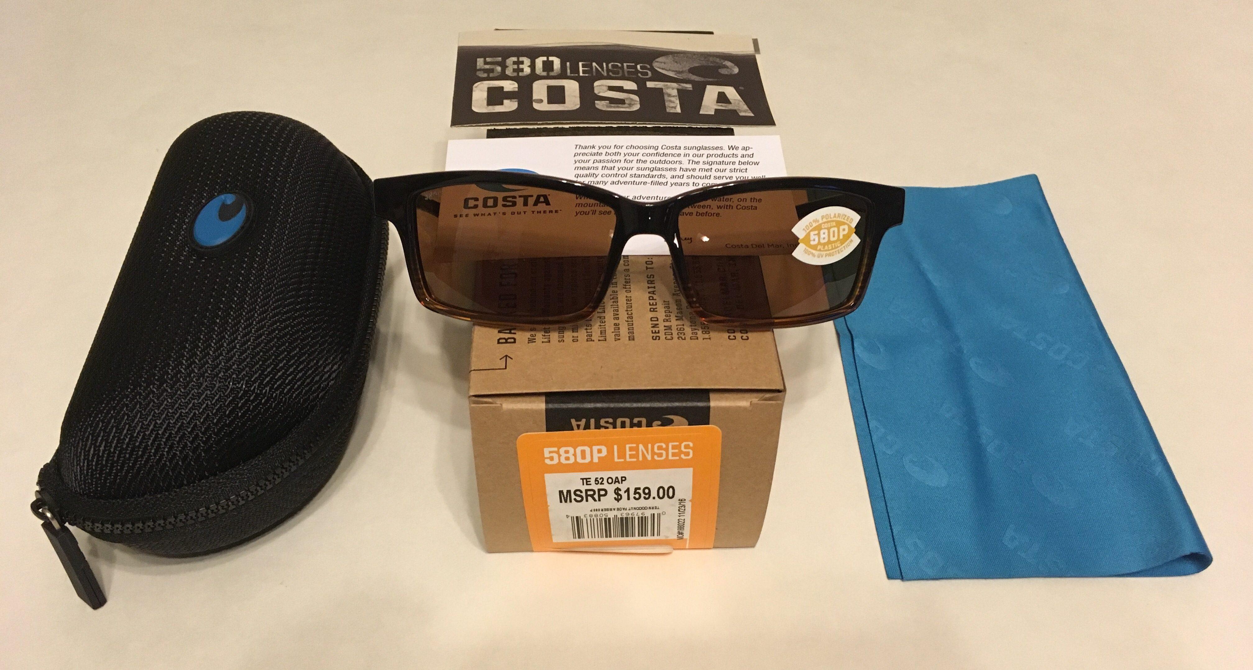 NEW Costa Del Mar Tern Sunglasses - Coconut Fade POLARIZED Amber 580P