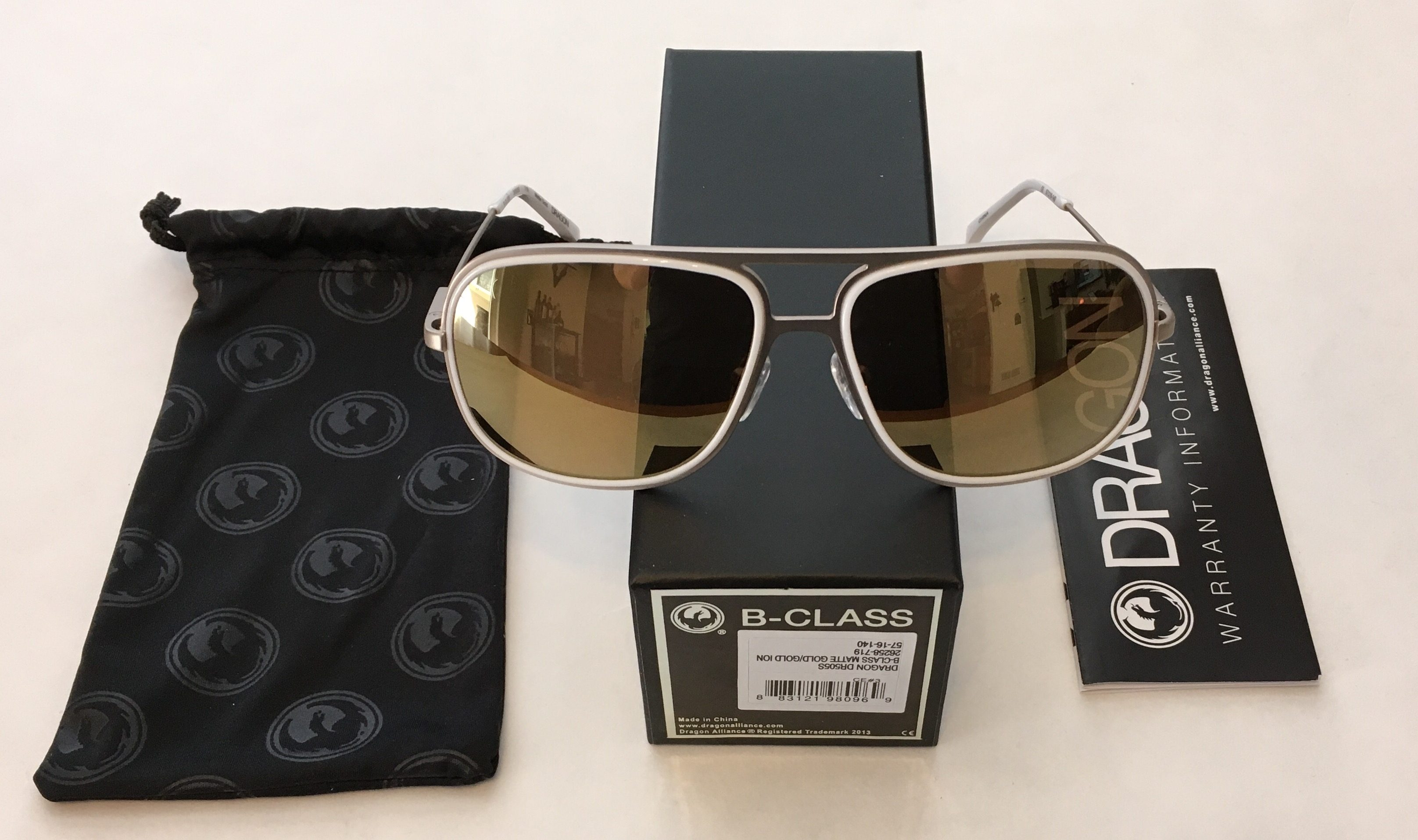 Dragon Alliance Aviator B-Class Sunglasses - Matte Gold Frame - Gold Ion Lens
