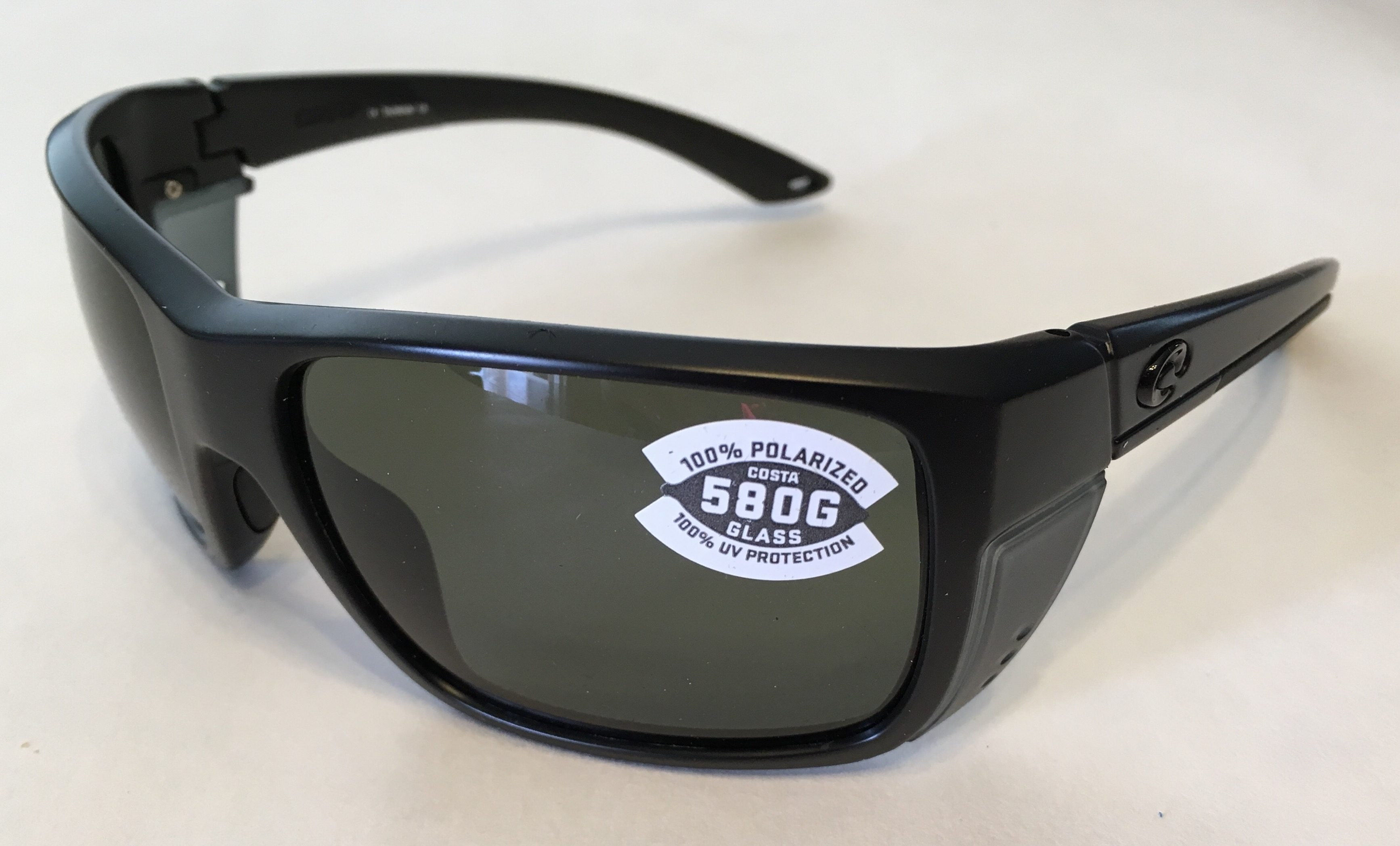 213801a5d4 Costa Del Mar Rooster Sunglasses Blackout Matte Black POLARIZED Gray 580G  Glass