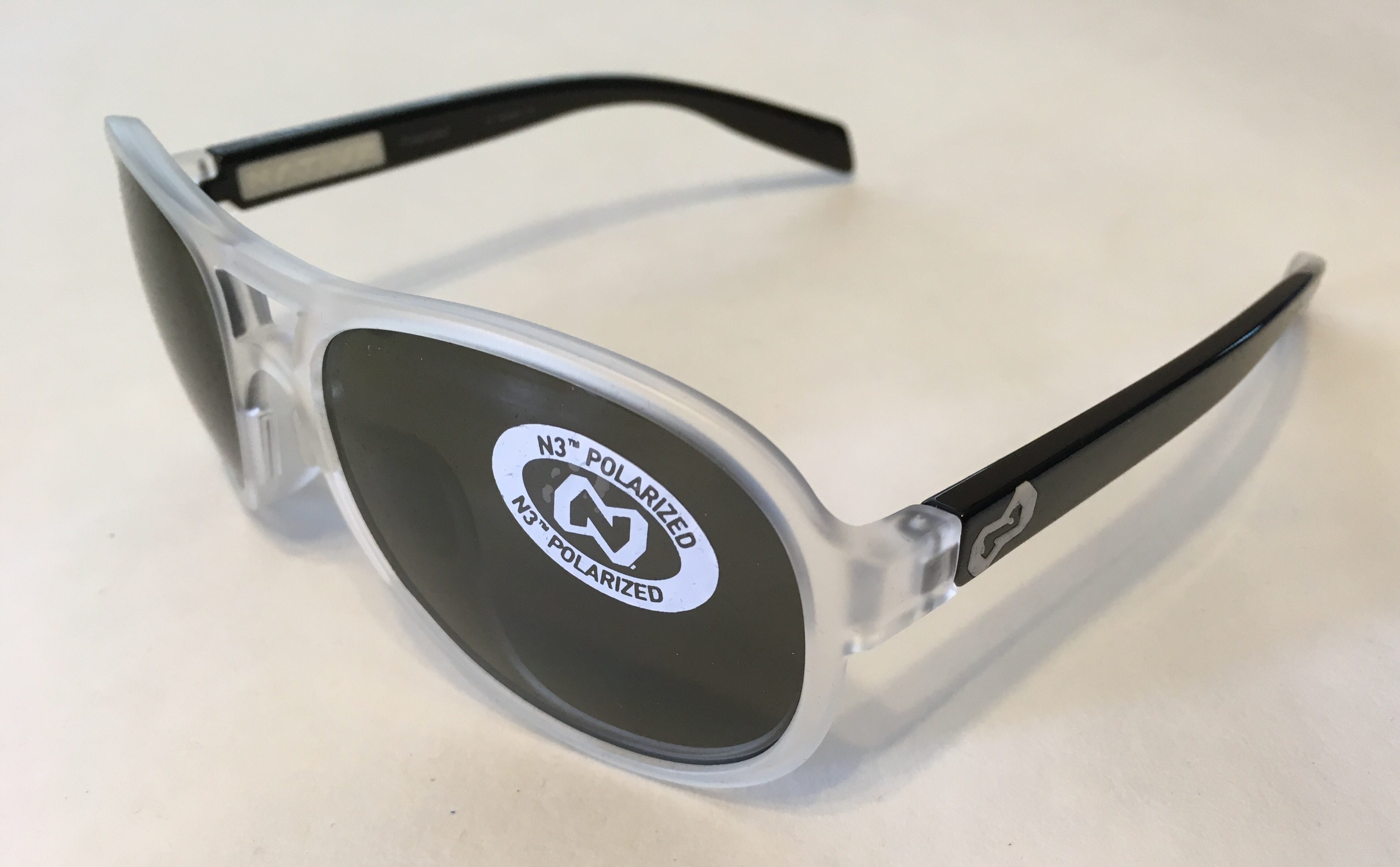 Native Eyewear Chilkat Sunglasses - Crystal Frost Iron Black - POLARIZED Gray