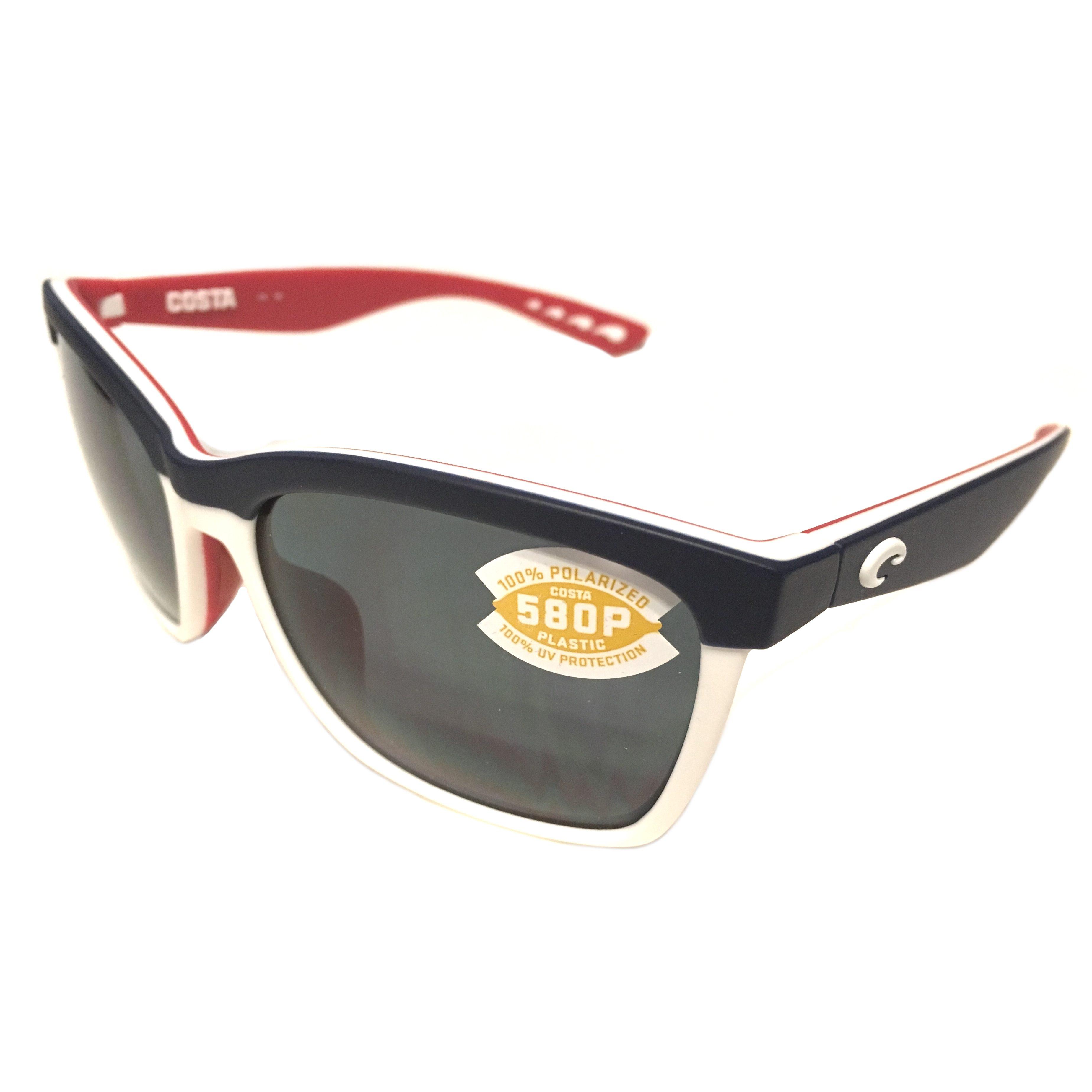 2d721270e12 Costa Del Mar Anaa Sunglasses – USA Red White Blue Frame – Polarized Gray  Lens 580P