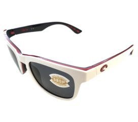 Costa Del Mar Copra Sunglasses - USA Red White Blue Frame - Polarized Gray Lens 580P