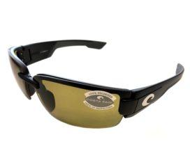 Costa Del Mar Rockport Sunglasses - Black Frame - Polarized Sunrise Yellow Lens 580P