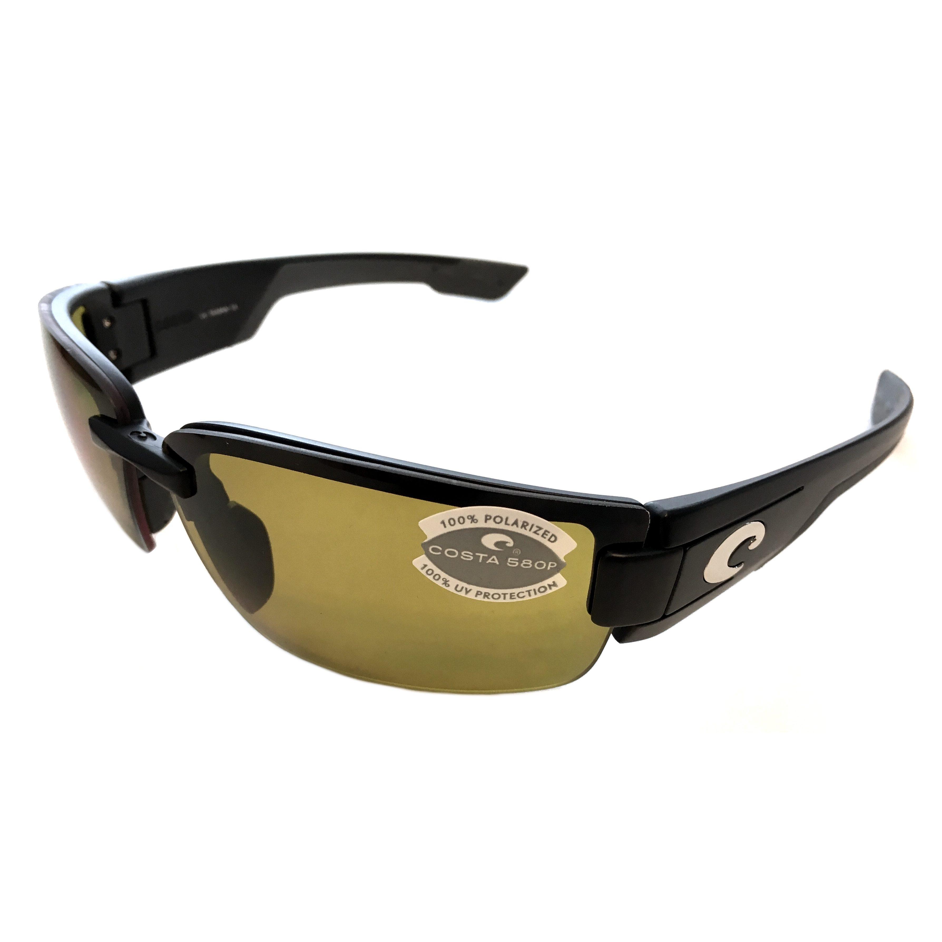 5637df6dd6708 Costa Del Mar Rockport Sunglasses – Black Frame – Polarized Sunrise Yellow  Lens 580P