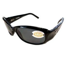 Costa Del Mar Vela Sunglasses - Black Frame - Polarized Gray 580P Lenses