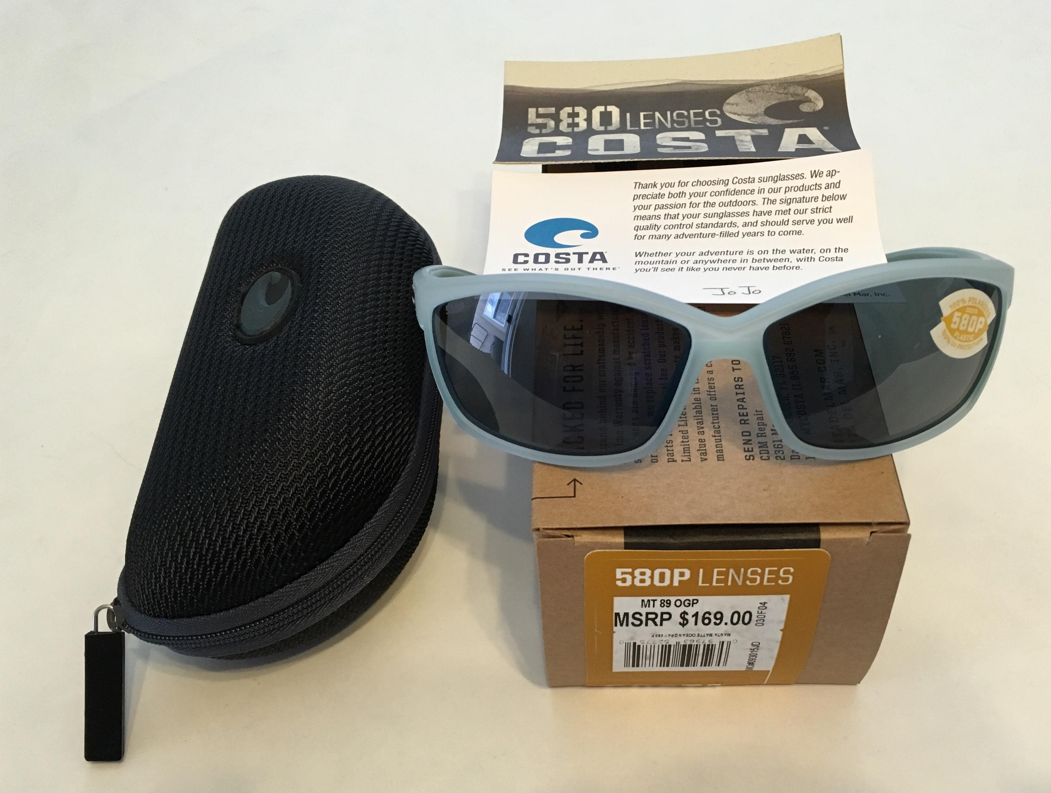 63e7e45828 Costa Del Mar Manta Sunglasses – Matte Ocean Blue Frame – Polarized ...