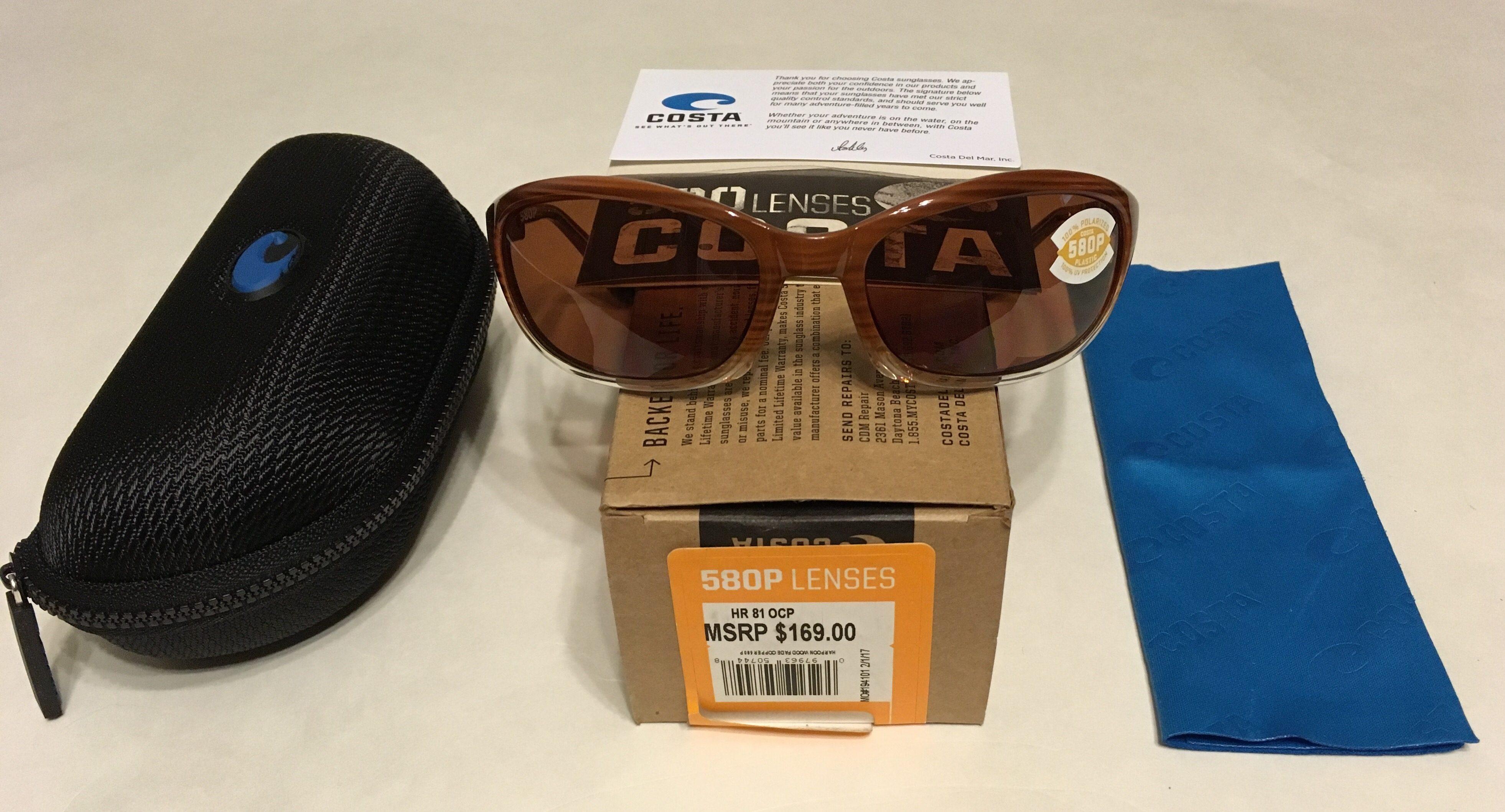 672f161025 NEW Costa Del Mar Harpoon Sunglasses – Wood Fade – POLARIZED Copper ...