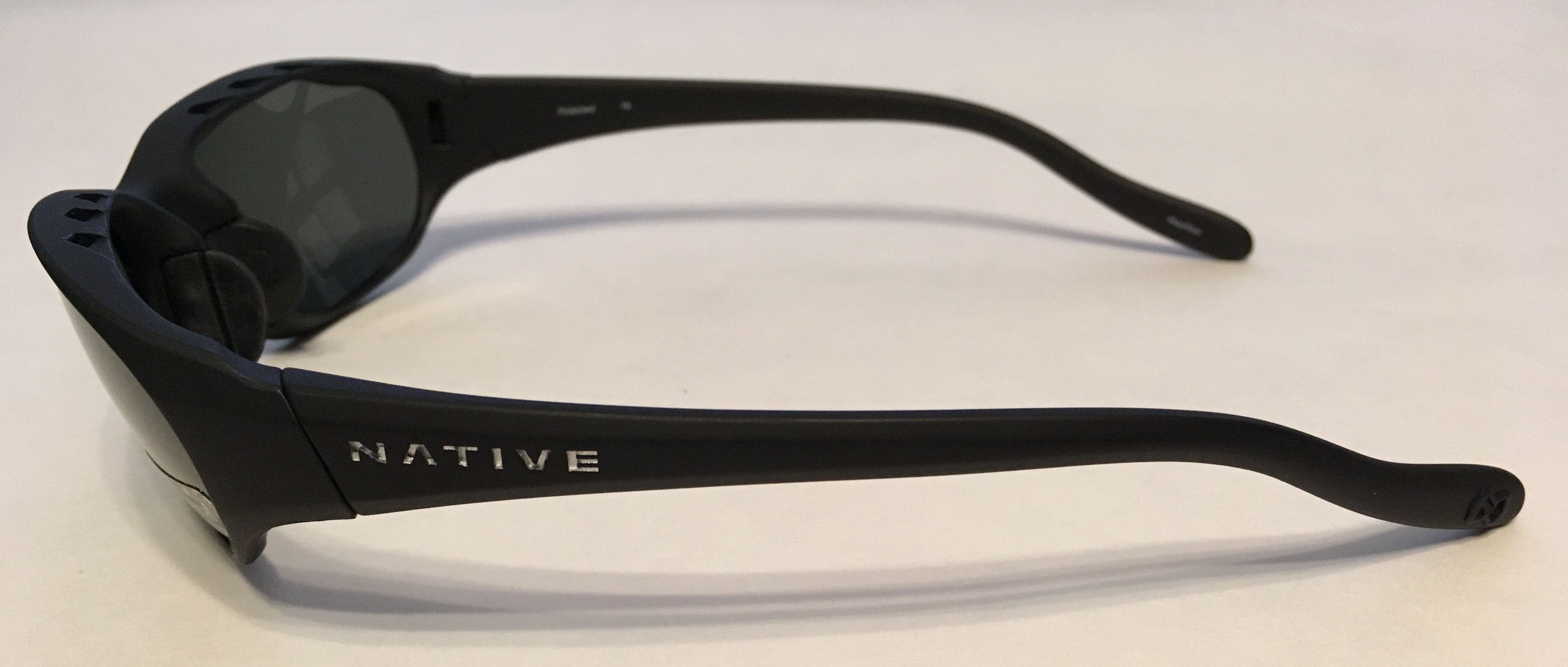 Native Eyewear Throttle Sunglasses - Asphalt Matte Black - POLARIZED Gray