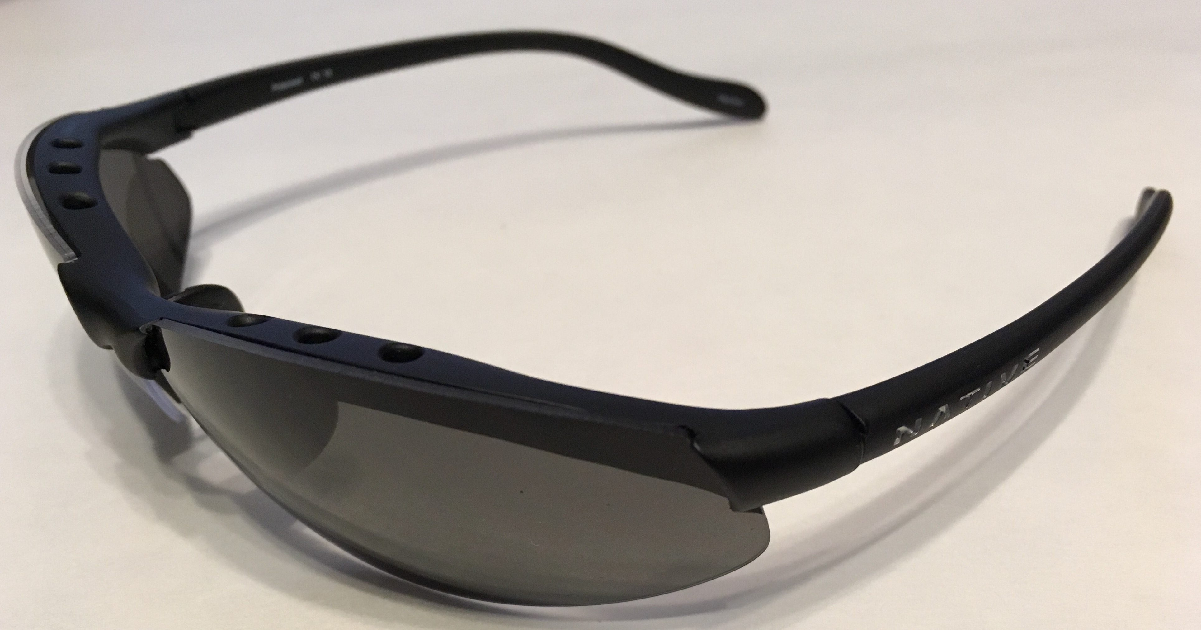 Native Eyewear Dash XR Sunglasses - Asphalt Matte Black - POLARIZED Gray