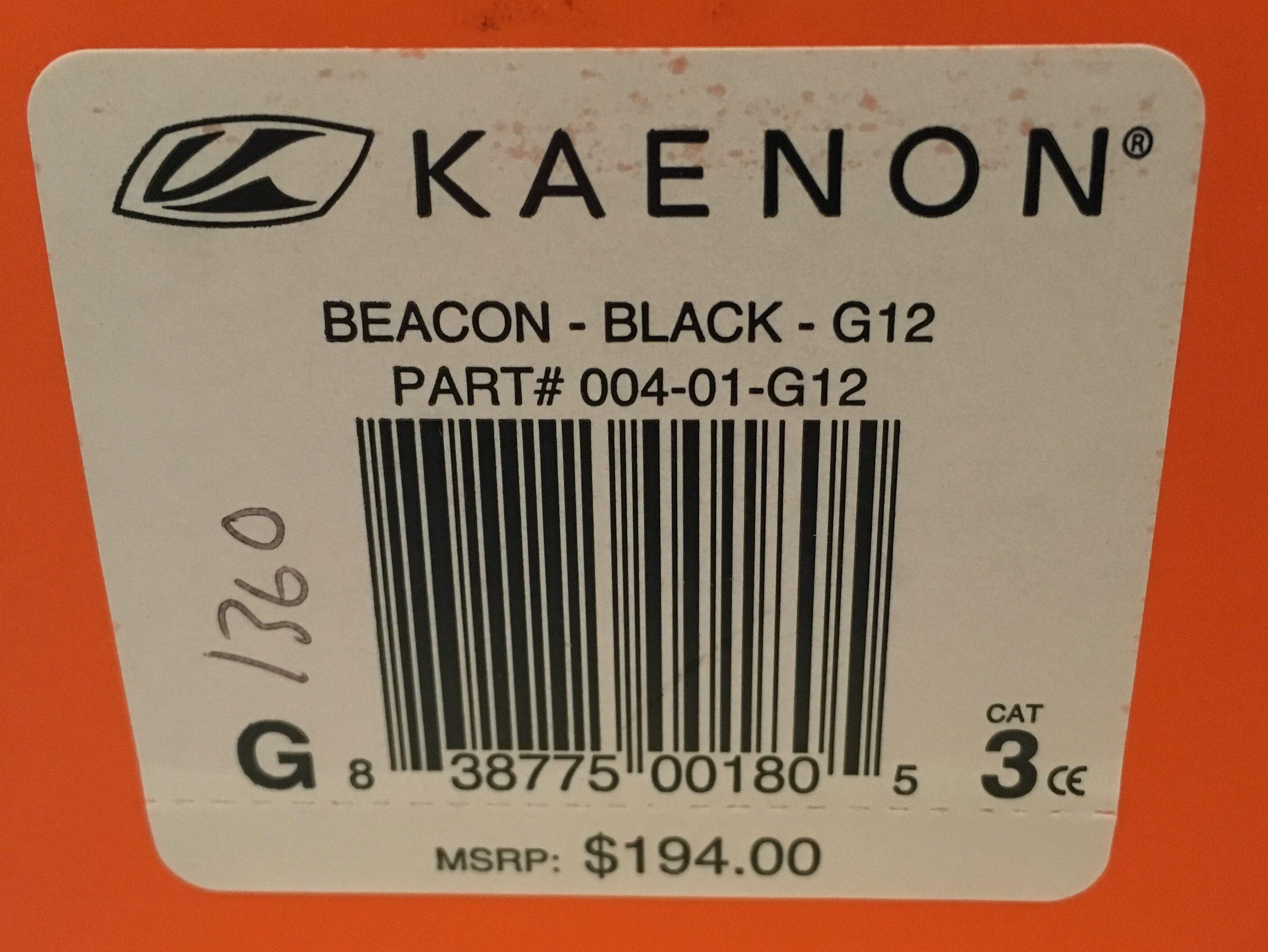 Kaenon Beacon Sunglasses - Black Frame - POLARIZED G12 Gray Lens