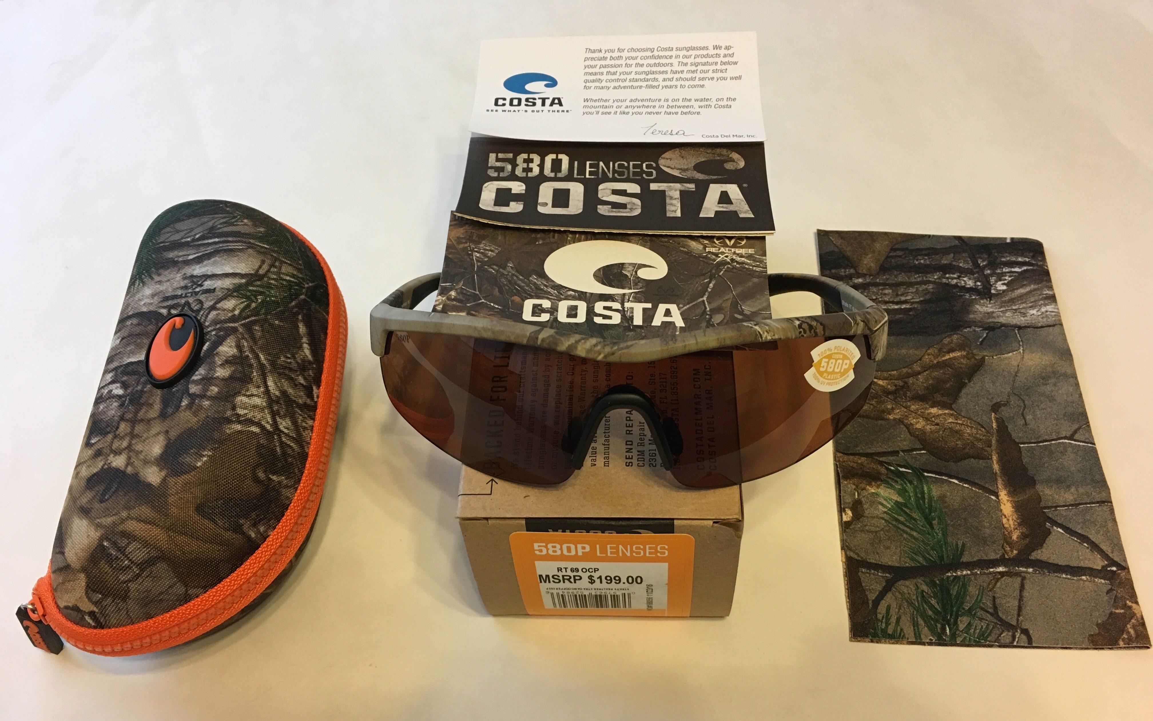 c005c8fe8197 Costa Del Mar Straits Sunglasses - Realtree Xtra Camo POLARIZED Copper 580P