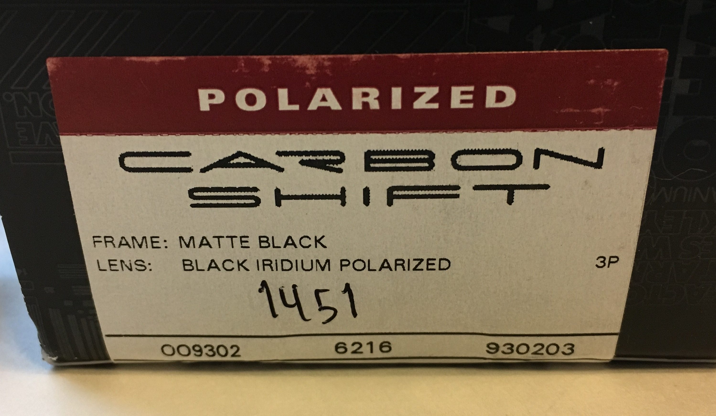 Oakley Carbon Shift Sunglasses Matte Black POLARIZED Black Iridium OO9302-03
