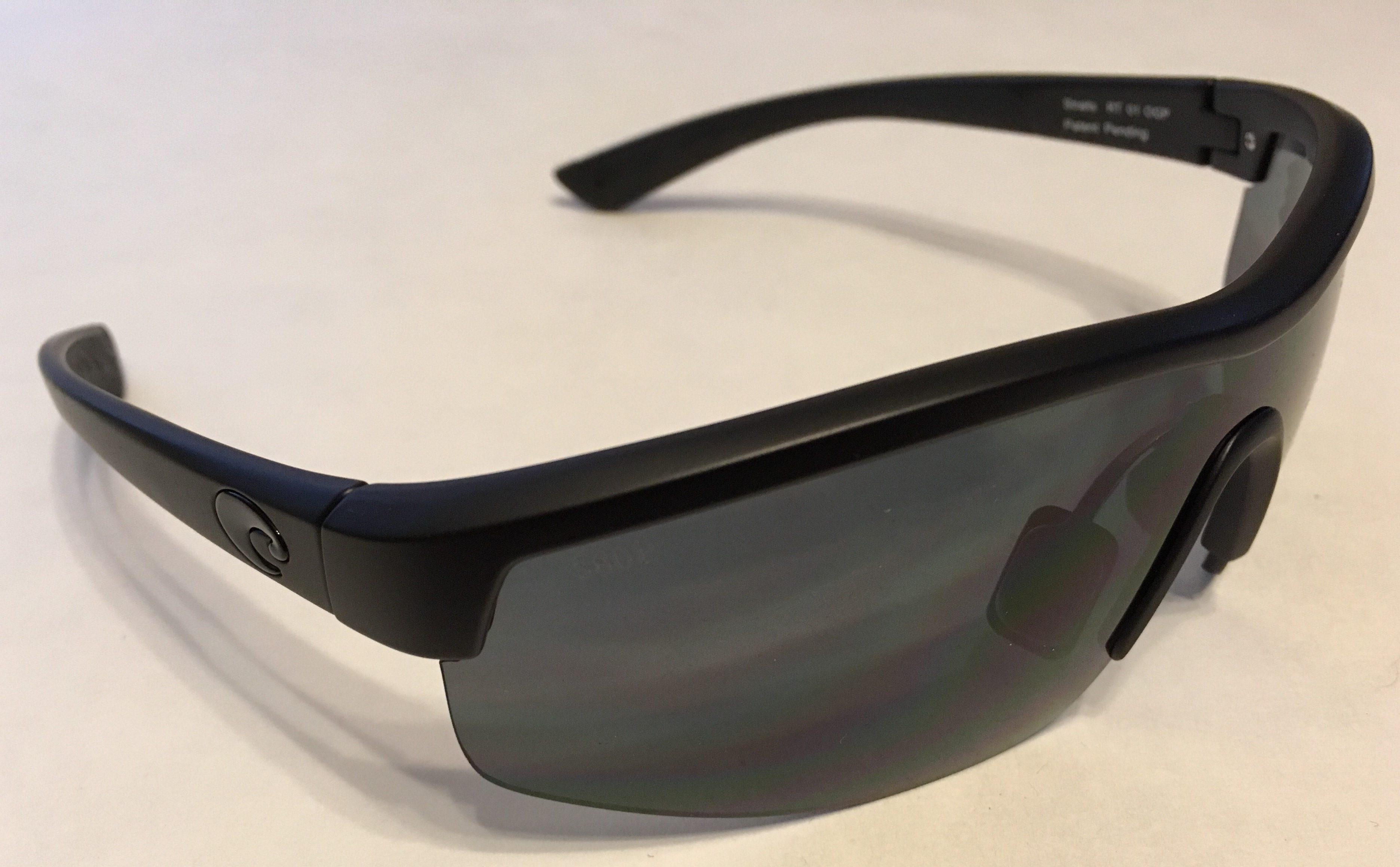 Costa Del Mar Straits Sunglasses - Blackout Black - POLARIZED Gray 580P