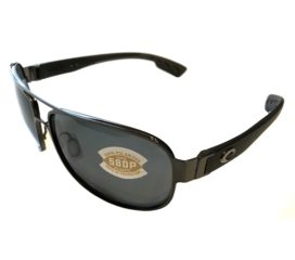 Costa Del Mar Conch Sunglasses - Gunmetal Frame - Polarized Gray 580P Lenses