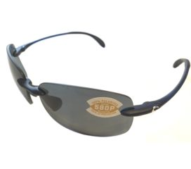 Costa Del Mar Destin Sunglasses - Matte Blue Frame - Polarized Gray Lens 580P