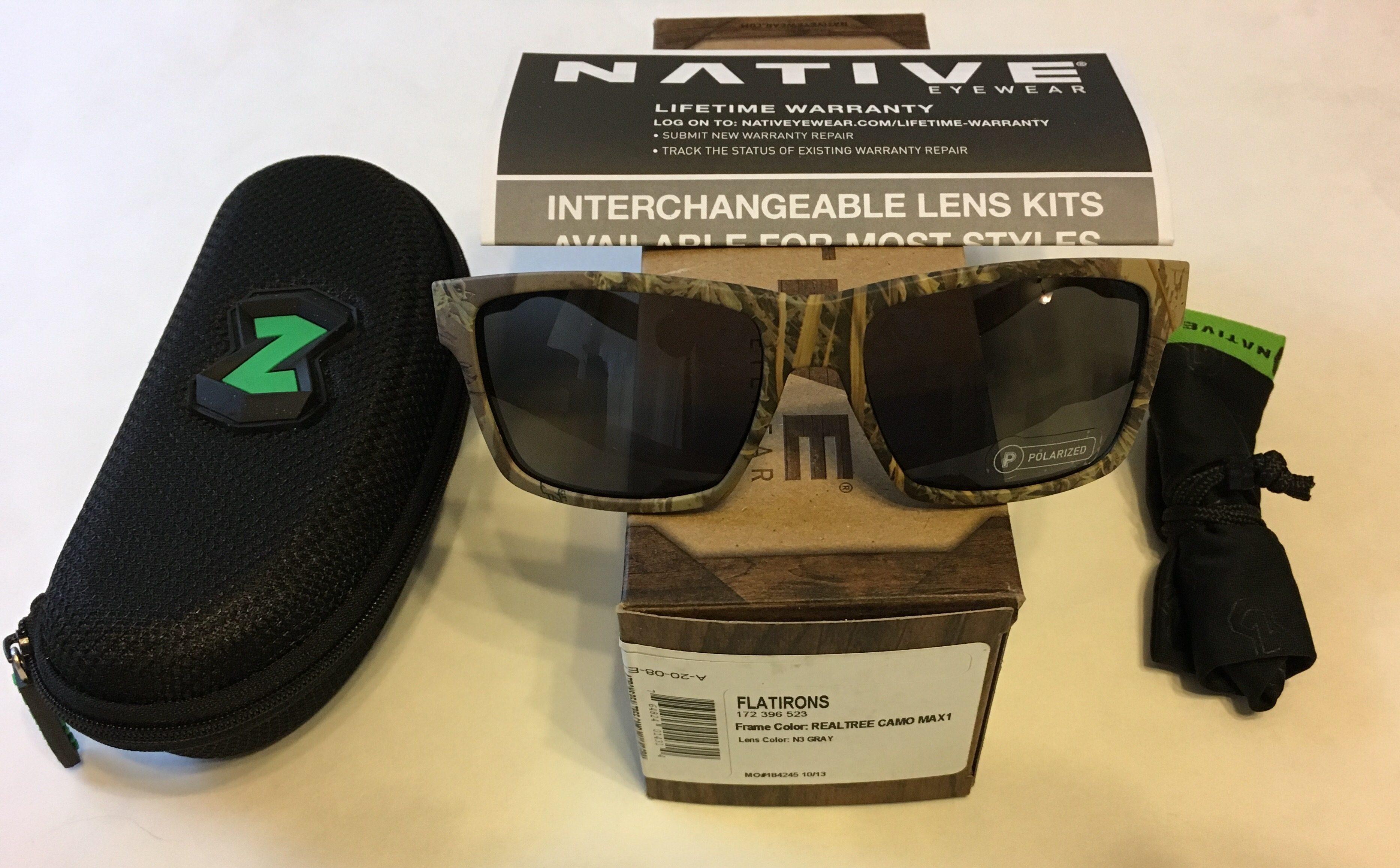 Native Eyewear Flatirons Sunglasses - Realtree Camo MAX1 POLARIZED N3 Gray