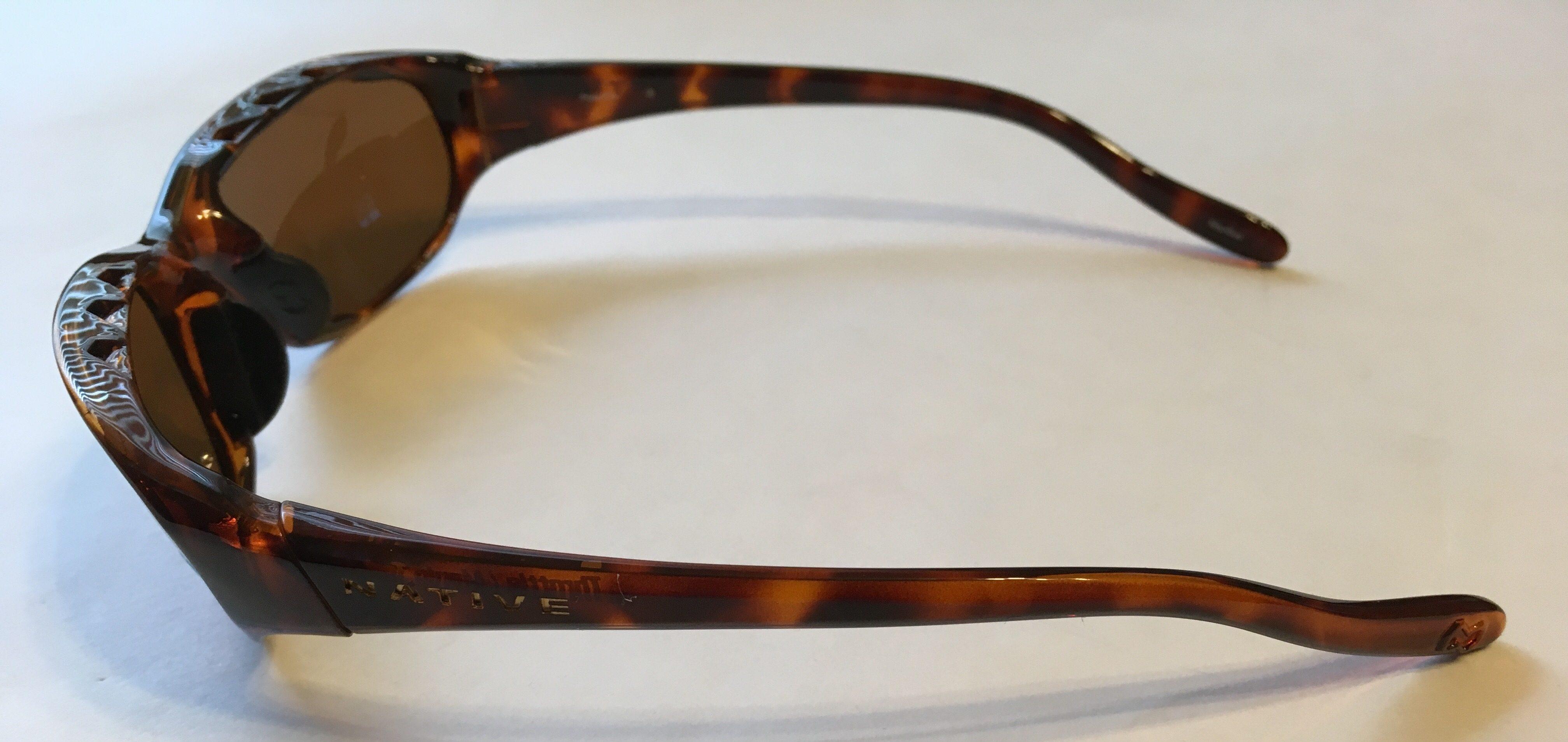 Native Eyewear Throttle Sunglasses - Maple Tortoise - POLARIZED Brown Lens