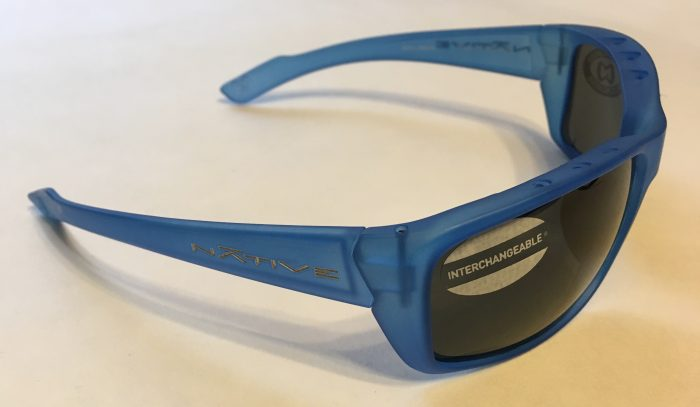 Native Eyewear Wazee Sunglasses - Cobalt Frost Blue - POLARIZED Gray