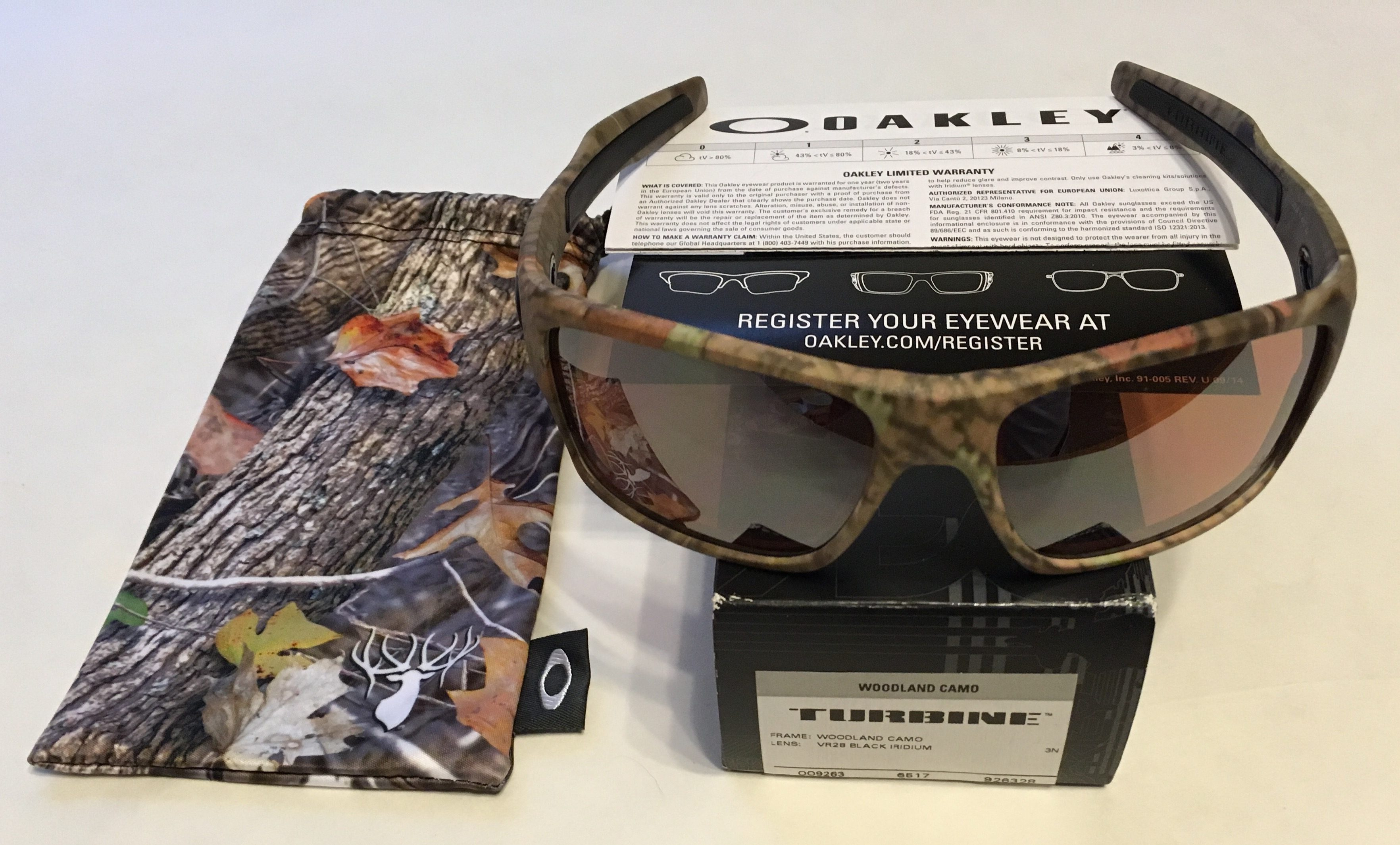 b69ea06616 Oakley Turbine Sunglasses - Woodland Camo - VR28 Black Iridium - OO9263-28