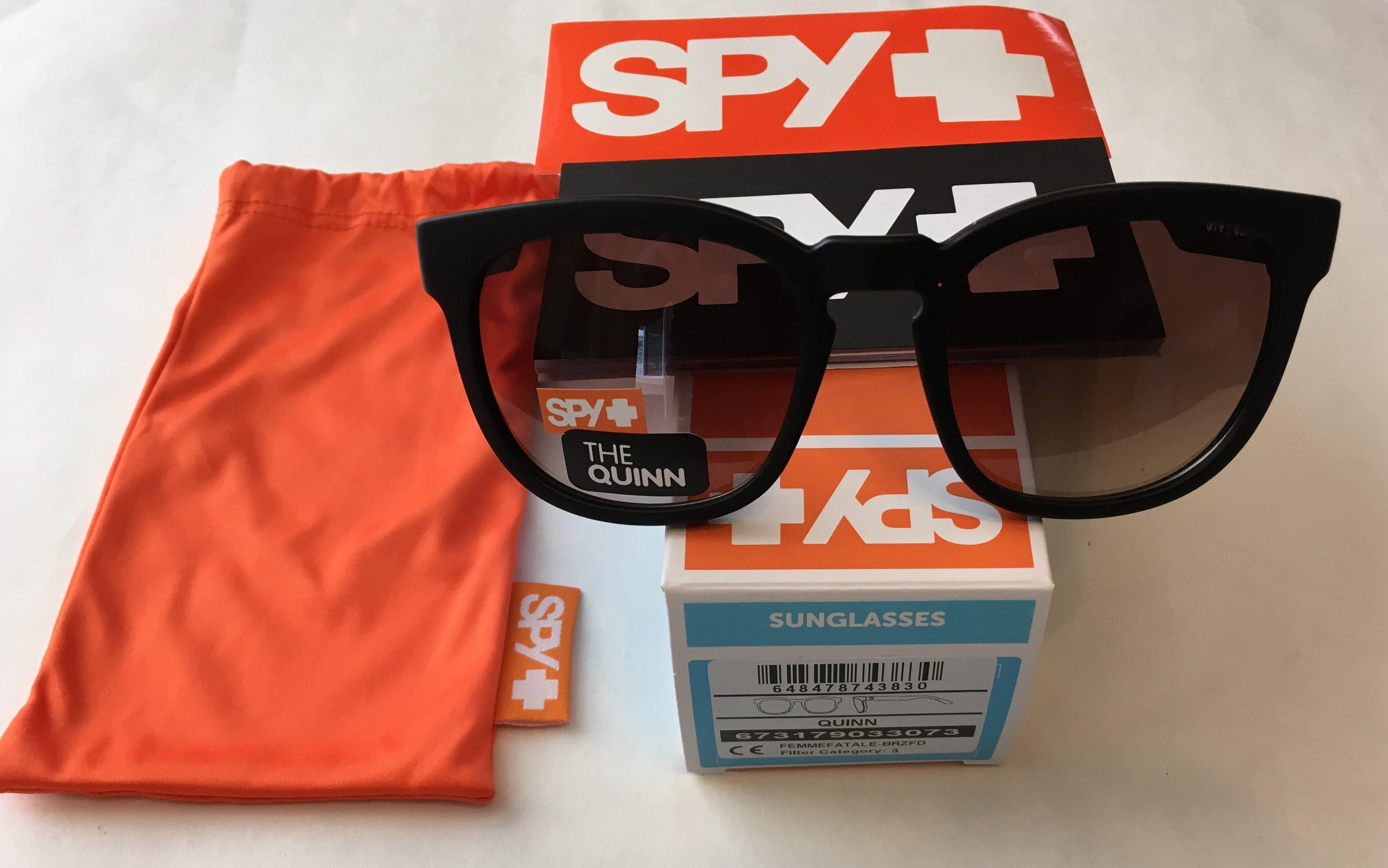 04e27c2239a Spy Optics Quinn Sunglasses – Femme Fatale Matte Black Fram – Bronze ...