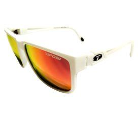 Tifosi Optics Hagen XL Sunglasses - Matte White Frame - Smoke Red Lens