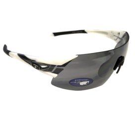Tifosi Optics Podium XC Sunglasses - White & Gunmetal - Smoke Lens + 2 Extra Lenses
