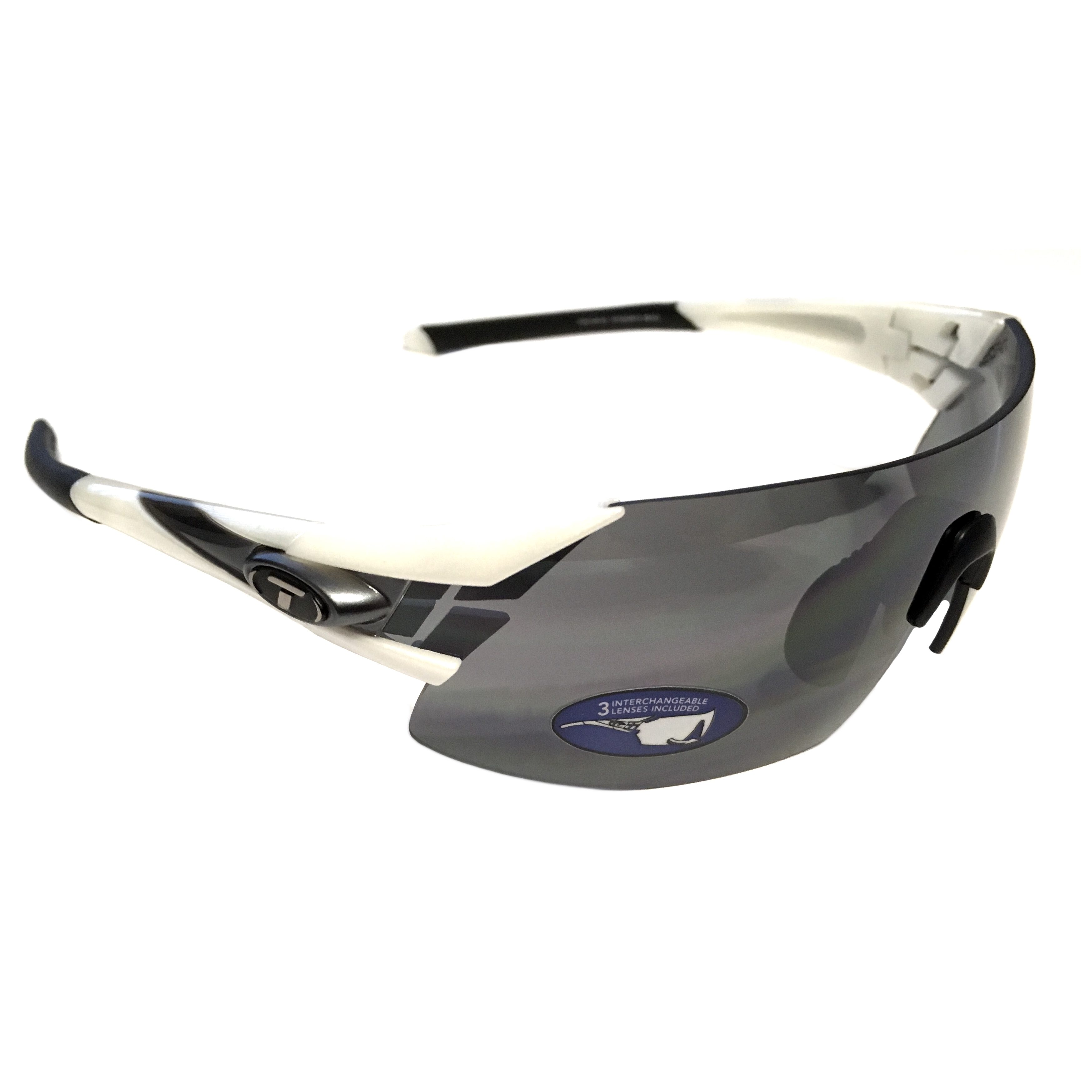 8f1536f8b0 Tifosi Optics Podium XC Sunglasses - White   Gunmetal - Smoke +XTRA Lenses