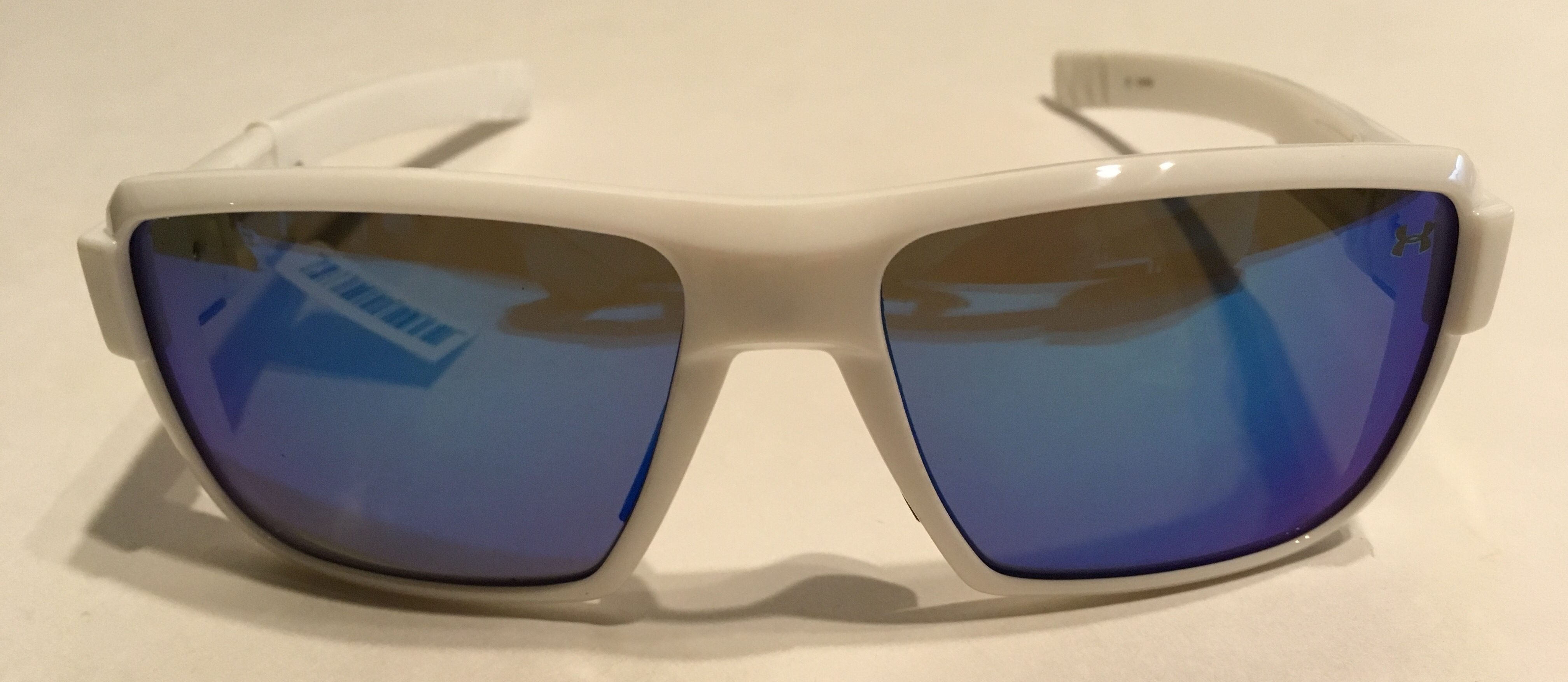 b4dfad01f2a Under Armour Recon Sunglasses UA - Shiny White - Blue Multiflection