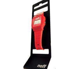 Neff Flava Digital Water-Resistant Watch w/ Alarm & Backlight- Red - Unisex NF0204