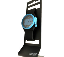 Neff Stripe Analog Water-Resistant Watch - Black & Blue - Soft Silicone Strap - NF0225