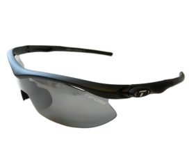 Tifosi Optics Slip Sunglasses - Asian Fit - Matte Black Frame - Smoke Lens + 2 Extra Lenses