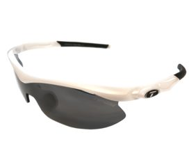Tifosi Optics Slip Sunglasses - Asian Fit - Pearl White Frame - Smoke + 2 Extra Lenses