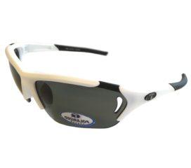 Tifosi Optics Radius FC Sunglasses - Matte White Frame - Polarized Smoke Lens