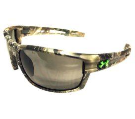 Under Armour UA Captain Sunglasses - Satin Camo Realtree - Gray ANSI Z87.1 Rated Lenses