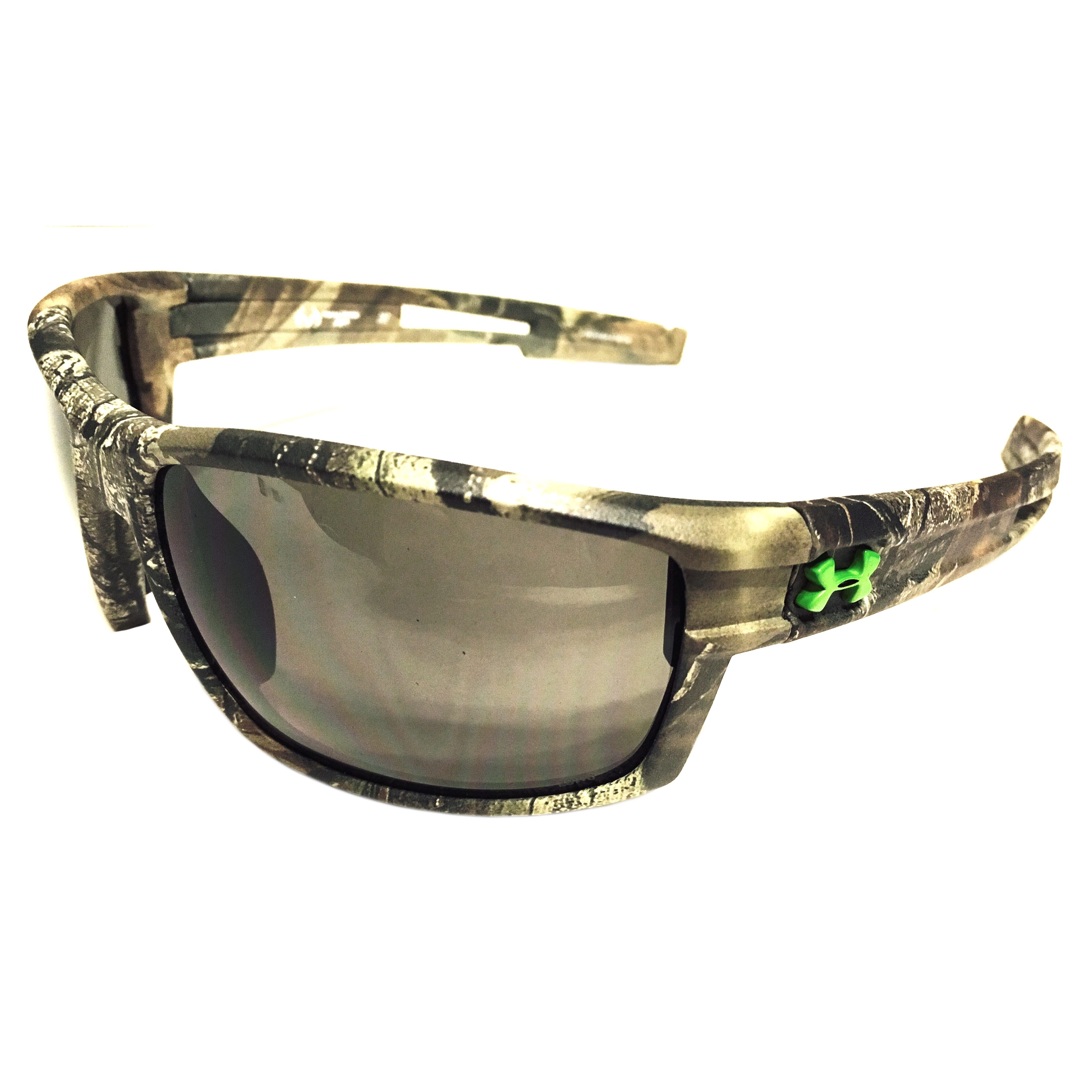0c0f907dc6 Under Armour UA Captain Sunglasses – Satin Camo Realtree – Gray ANSI Z87.1  Rated Lenses