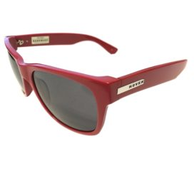 Hoven Vision Big Risky Sunglasses - Handmade Acetate Red Frame - Gray Lenses - 39-0501