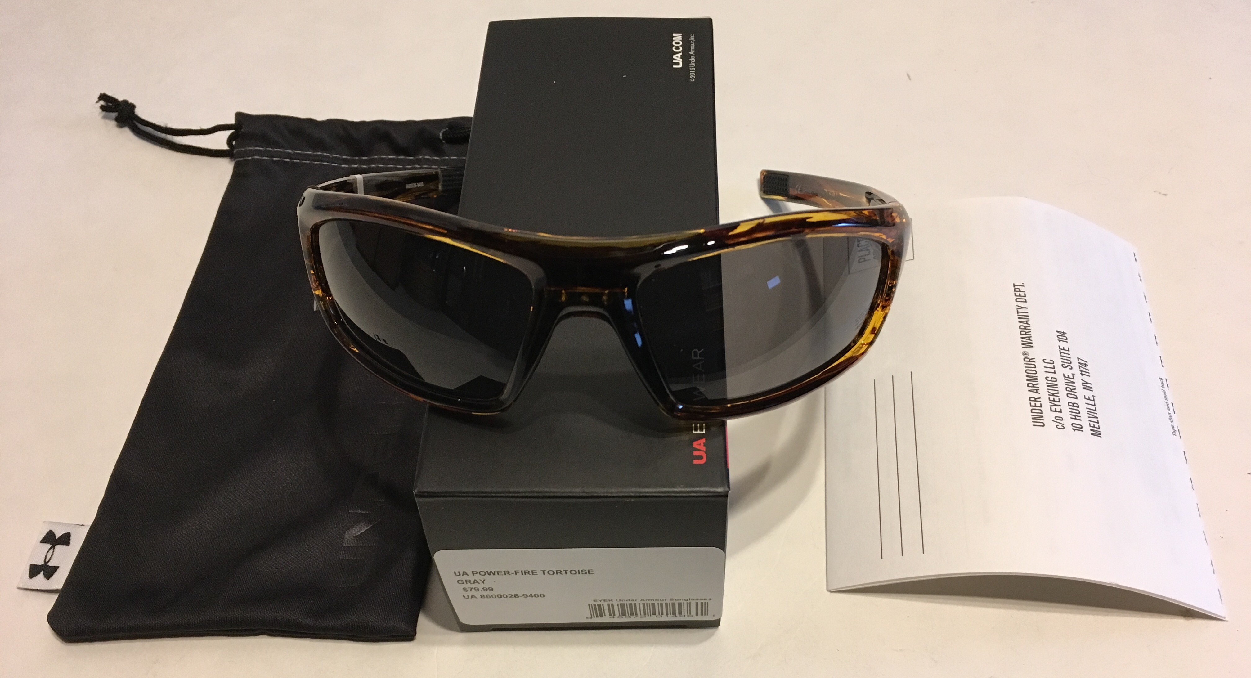 6634a7bc7f Under Armour Power Sunglasses UA – Fire Tortoise Frame – Gray Lens ...