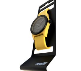 Neff Duo Analog Water-Resistant Watch - Black & Yellow - Soft Strap NF0217