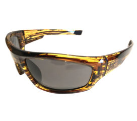 Under Armour Power Sunglasses UA - Fire Tortoise Wrap Frame - Gray Lens