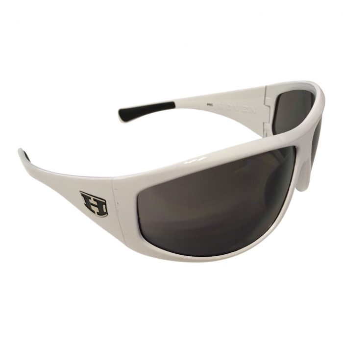 Hoven Vision Law Sunglasses - White Grilamid Frame - Gray Lens - Model 41-7501