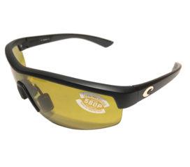 Costa Del Mar Straits Sunglasses - Matte Black Frame - Polarized Sunrise Yellow Lens 580P