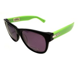 Hoven Vision Big Risky Sunglasses - Black & Bright Green Frame - Grey Lens - 39-4701