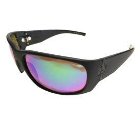 Hoven Vision Match Sunglasses - Black Frame - Polarized Green Chrome - 44-9964