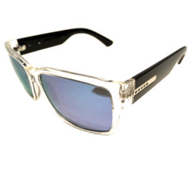 Hoven Vision Mosteez Sunglasses - Clear & Black Frame - Polarized Sky Blue Lens