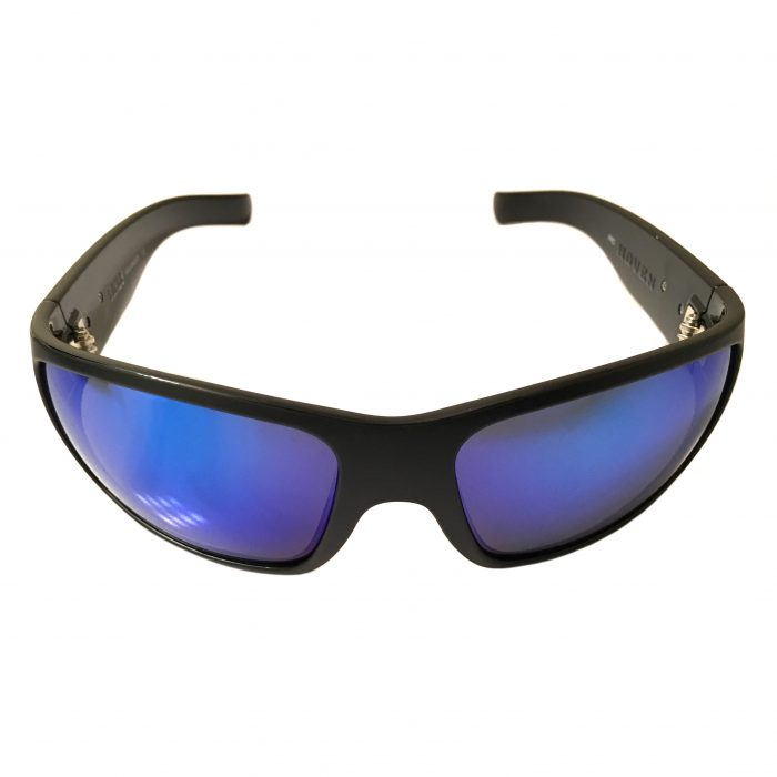 Hoven Vision Times Sunglasses - Black Frame - ANSI Compliant - Polarized Tahoe Blue Lens