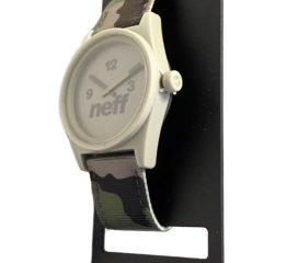 Neff Daily Woven Water- Resistant Analog Watch - Camo Nylon Strap - NF0209