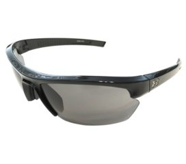 Under Armour Stride XL Sunglasses UA - Shiny Black Sport Frame - Gray Lenses