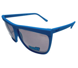 Neff Headwear Brow Sunglasses - Retro Style Cyan Blue Frame - Gray Lens