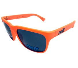 Neff Headwear Chip Sunglasses - Classic Style - Orange Rubber - Gray Lens